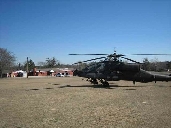 Stanton's Barbecue & Fish Camp: Apache Helicopter at Stanton's Barbeque