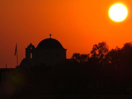 Hotel Onira : Zonsondergang op Paros