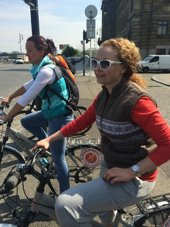 Praha Bike -  Bicycle Tours & Rentals : Tour guide Alexandra is in blue=)