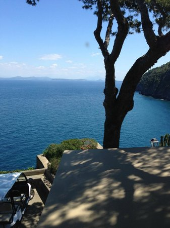 Mezzatorre Resort and Spa: vue de la fenêtre