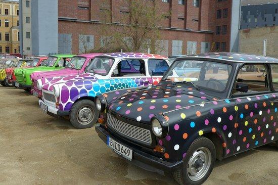 Trabi-Safari - TrabiWorld Berlin: Just some of the cars you can drive.