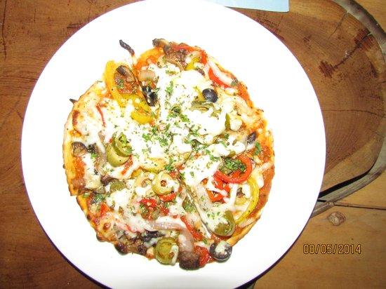 Mediterra at Sayaji Hotel : Pizza made by Tanishka and Harshit