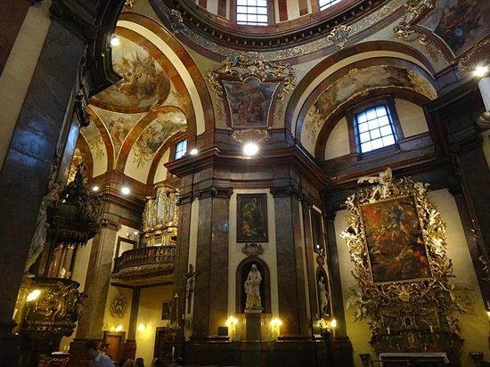St. Francis of Assisi Church: Prague church St. Francis os Assisi interier
