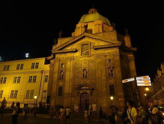 St. Francis of Assisi Church: Prague Church St. Francis of Assisi in night