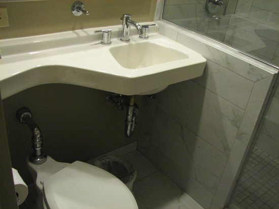 Holiday Inn Express Denver Downtown: Sink and commode