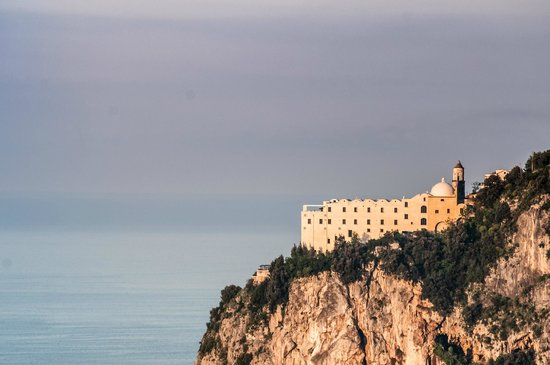 Monastero Santa Rosa Hotel & Spa: Monastero Santa Rosa taken from the hill opposite