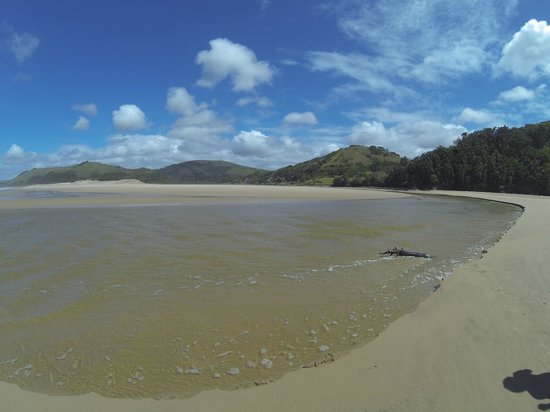 Umngazi River Bungalows & Spa: On the beach at low tide