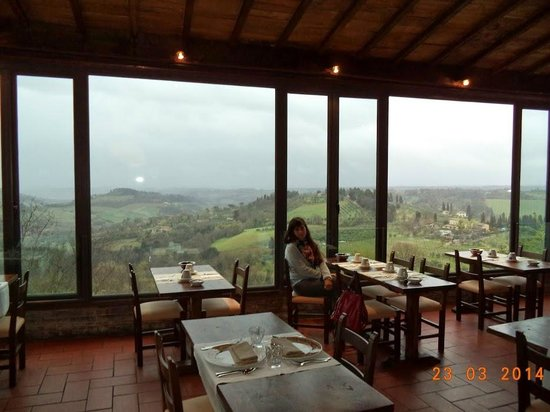 view from the restaurant - Picture of Hotel Bel Soggiorno, San ...