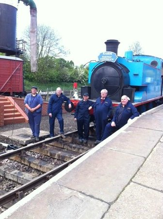 East Anglian Railway Museum: The group with Michael the driving instructor on the left.