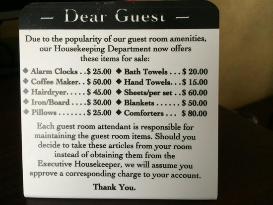 Brooklyn Way Hotel, BW Premier Collection: Notice in the bathroom