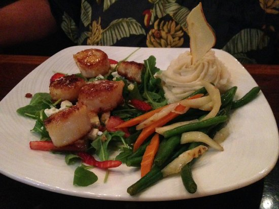 Mystic Fish Seafood Grill: Scallop Dinnner
