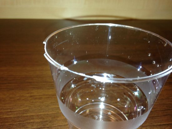 Holiday Inn Express Baden-Baden: Check before you use the glass