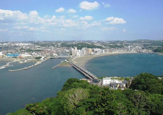 Enoshima Island : Вид на мост Эносима-Бентен