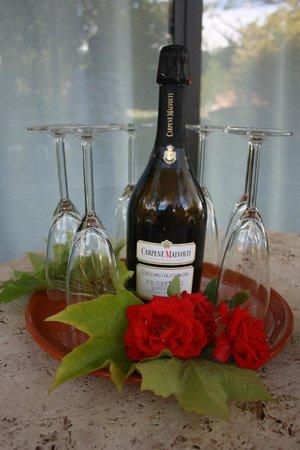 Villa Baciolo: Champagne vanwege huwelijksreis
