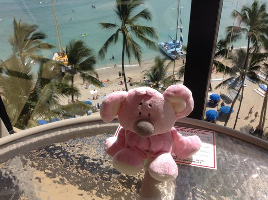Outrigger Waikiki Beach Resort: view from our 7th floor balcony