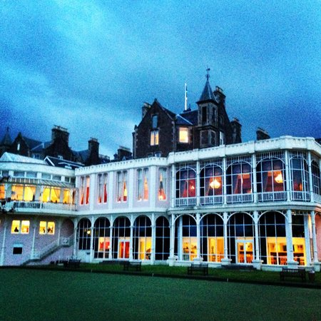 Crieff Hydro Hotel and Resort: Evening view of back of hotel