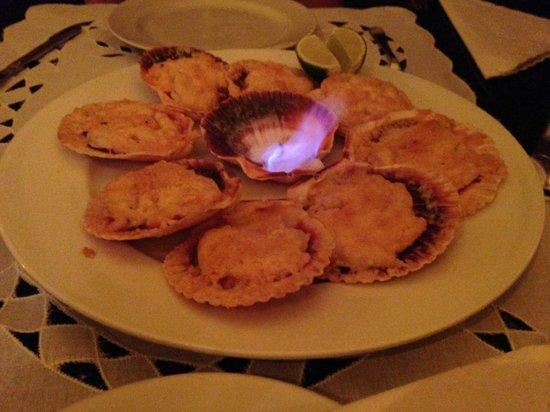 Restaurante Wanchako : Camarões flambados no Wanchako