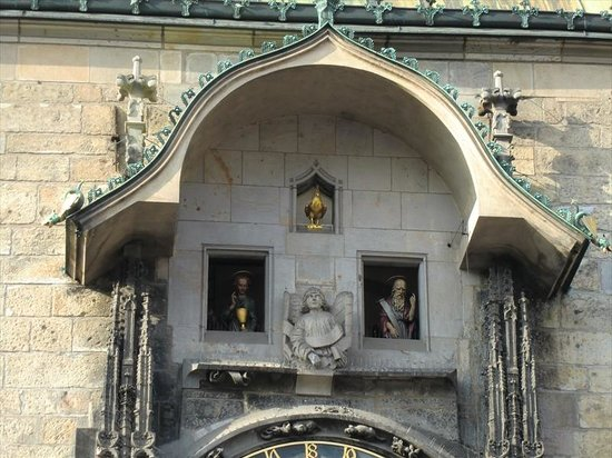 Hôtel de ville de la Vieille ville et l'horloge astronomique : 天文時計のからくり人形