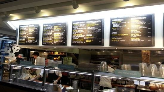 Tortas Frontera by Rick Bayless : Frontera menu and preparation area