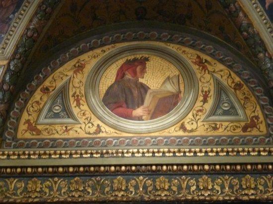 The Morgan Library & Museum: Nella biblioteca, in alto, la formella con Dante