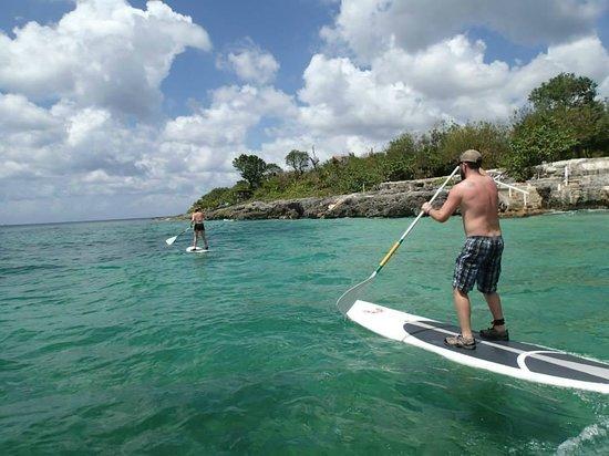 Ha Haak Paddleboarding Cozumel : Paddling downwind