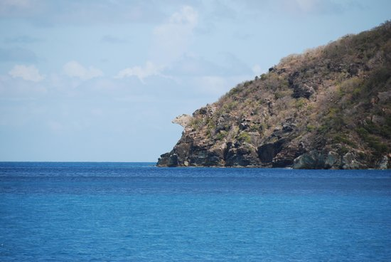 204 Iguana Head Rock formation on the NW side of Guana Island April 30