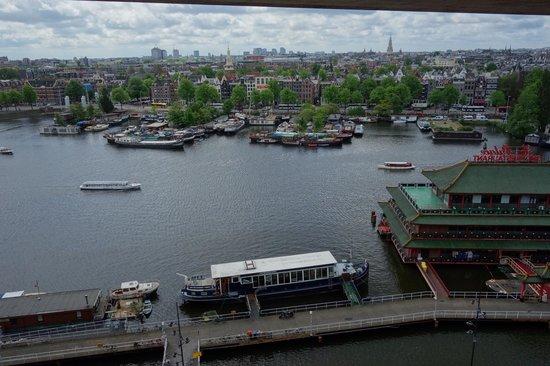 Bibliothèque centrale (Openbare Bibliotheek) : Amsterdam city view from 7th floor