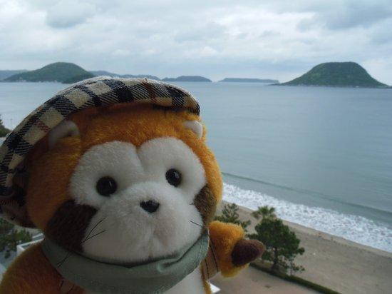 Karatsu Seaside Hotel: ホテルの窓から。