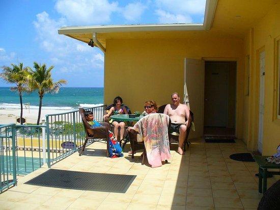 Ebb Tide Oceanfront Resort in Pompano Beach, Florida: EbbTide Patio View