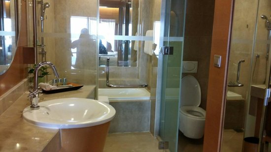 The Gardens Hotel & Residences : The bathroom & toilet. Clean & love the rain shower.