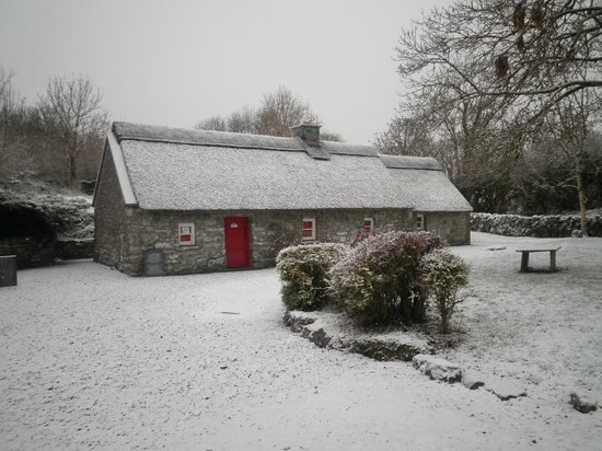Michael Cusack Centre: Michael Cusack's cottage in the snow