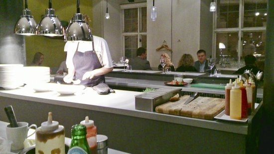 3 Pavaru Restorans: the bar/prep area (if you want to watch assembly of food in action)