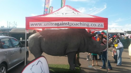Swartkops, Afrique du Sud : save our Rhino stand