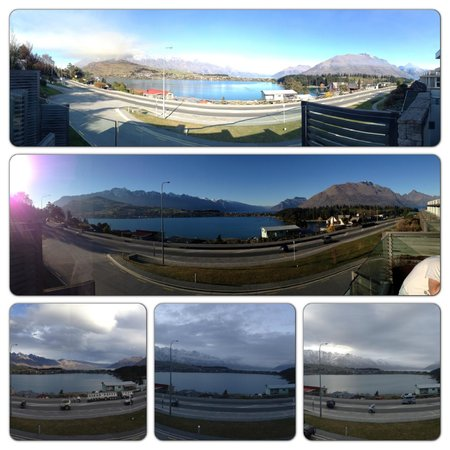 Swiss-Belsuites Pounamu Queenstown : The changing view from our apartment