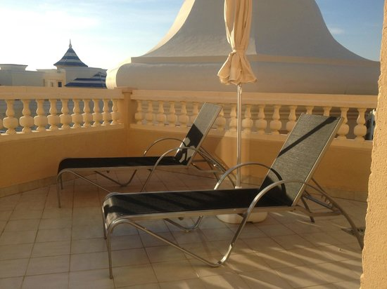 Melia Atlantico Isla Canela: One of two balconies from our suite