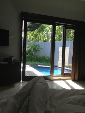 Samaja Beachside Villas: view from the bed
