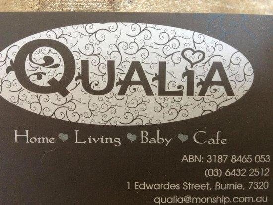 Qualia: Business card