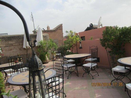 Riad Al Rimal: Terrazza relax -colazione