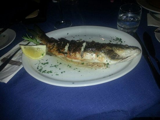 La Trattoria Restaurant: Fresh fish