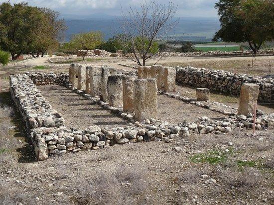 Tel Hazor National Park : Room with pillars (Israelite)