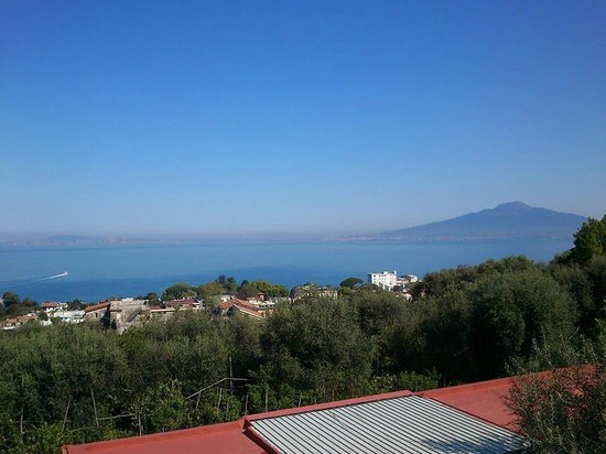 Villa Oriana Relais: view from balcony ( Naples and Vezuvio and the back )