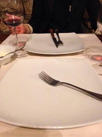 Ristorante la Castellana: Teller fast abgeleckt...