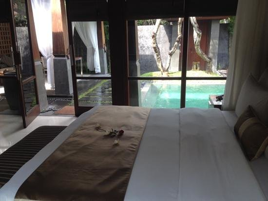 The Kayana Bali: view from our bed