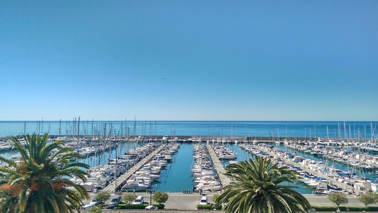 Ibis Budget Menton: Ocean view from room 507 - perfect :-)