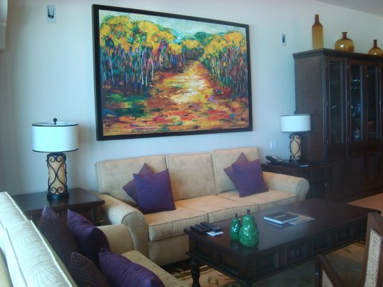 Grand Residences Riviera Cancun : Living room, suite 128