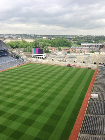 Ericsson Skyline: Croke park pitch from Viewing deck