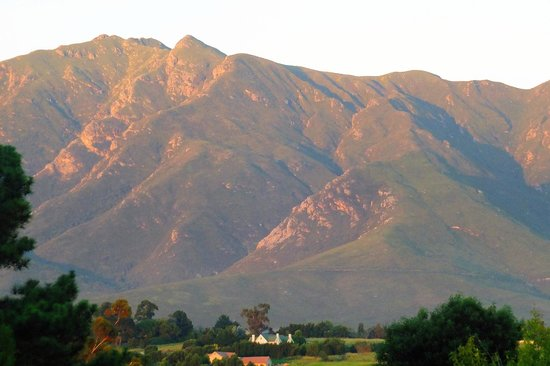 Tantivvey Country Guest House : Evening light on the Outeniquas