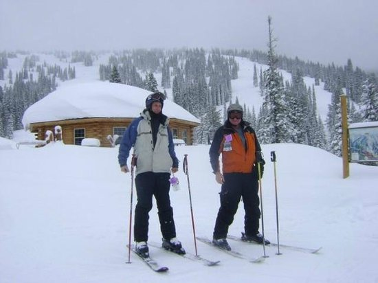 Brundage Mountain: George and I having just to much fun