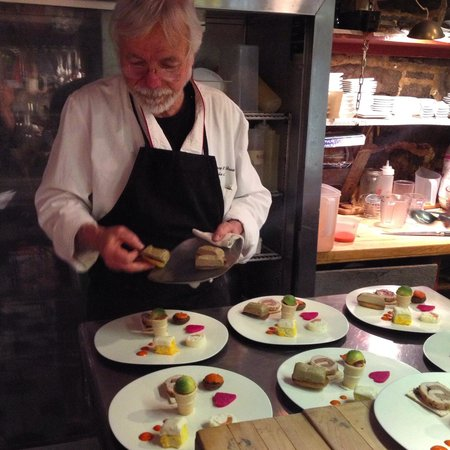 Depuy Canal House : Chef Novi preparing the Tasting Plates