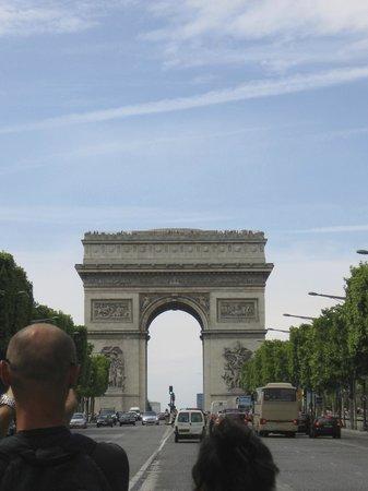 Champs-Élysées : Arc de Triomphe from Champs Elysees